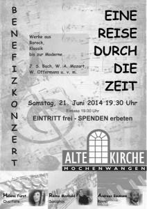 Benefizkonzert Plakat Alte Kirche
